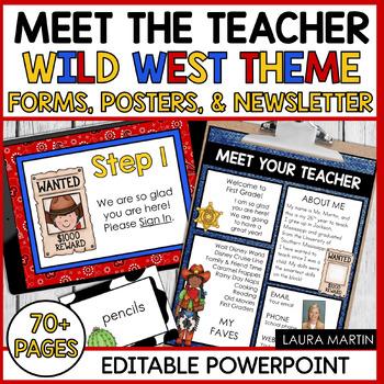 Meet the Teacher-Wild West Theme