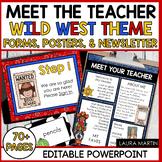 Meet the Teacher Open House EDITABLE templates Wild West Theme