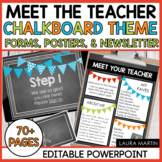 Meet the Teacher Open House EDITABLE templates Chalkboard Theme | Back to School