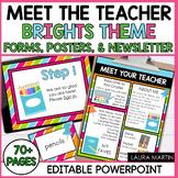 Meet the Teacher Open House EDITABLE templates Brights The