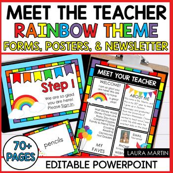 Meet the Teacher-Rainbow Theme