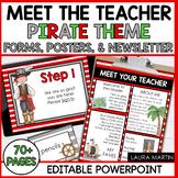 Meet the Teacher Open House EDITABLE templates Pirates The