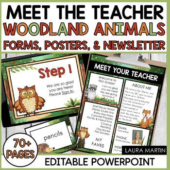 Meet the Teacher-Woodland Animals Theme