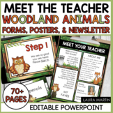 Meet the Teacher Open House EDITABLE templates Woodland Animals Theme