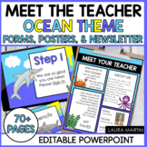 Meet the Teacher Open House EDITABLE templates Ocean Theme | Back to School