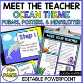 Meet the Teacher Open House EDITABLE templates Ocean Theme
