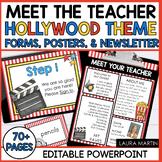 Meet the Teacher Open House EDITABLE templates Hollywood Movie Theme