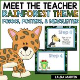 Meet the Teacher-Rainforest Theme