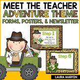 Meet the Teacher Open House EDITABLE Templates Safari Them