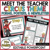 Meet the Teacher Open House EDITABLE Templates Circus Them