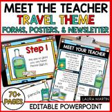 Meet the Teacher Open House EDITABLE Templates Travel Them