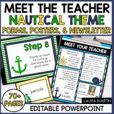 Meet the Teacher Open House EDITABLE Templates Nautical Th