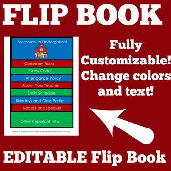 Meet the Teacher Night Flip Book