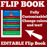 Meet the Teacher Flipbook   Editable   Kindergarten 1st 2n