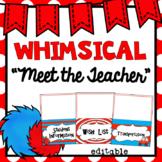 Meet the Teacher   Editable Station Signs   Whimsical Theme Classroom Decor