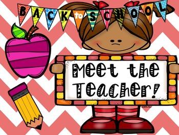 Meet the Teacher *NEW*EDITABLE*