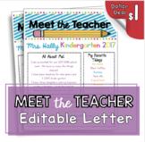 Editable Meet the Teacher - Open House Newsletter - Back to School Night