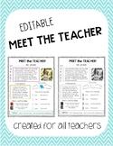 Meet the Teacher Editable Template