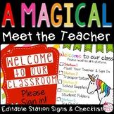 Meet the Teacher Editable Stations & Presentation
