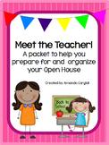 Meet the Teacher! A packet to help set up and organize you