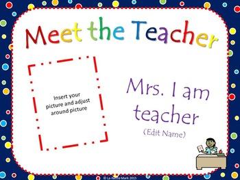 Meet the Teacher Animated PowerPoint (Colorful Polka Dots)