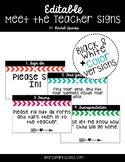 Meet the Teacher/Open House Arrow Signs