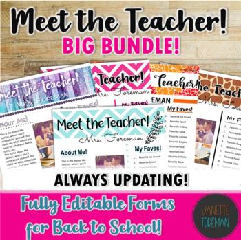 Meet the Teacher BIG BUNDLE! | Back to School | Templates | EDITABLE!