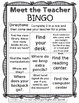 Meet the Teacher BINGO - EDITABLE