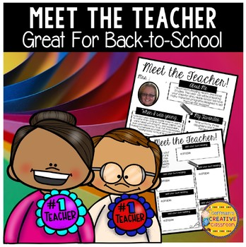 Meet the Teacher Back-to-School Editable