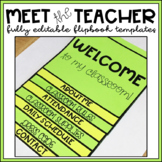Back to School Night Flip Book Template EDITABLE Open House Meet the Teacher