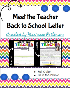 Meet the Teacher - Back to School Letter