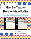 Meet the Teacher - Back to School Letter
