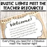 Meet the Teacher | Open House | Back to School Night: Rustic Lights