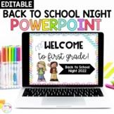 Meet the Teacher/ Back to School Night Editable PowerPoint- Rainbow Bright