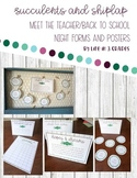 Meet the Teacher / Back to School Night Forms and Posters
