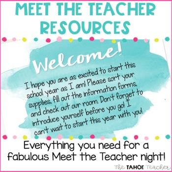 Meet the Teacher/ Back to School Night: Watercolors