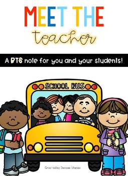 Meet the Teacher - Back to School Note