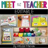 Meet the Teacher | Back to School | Open House EDITABLE