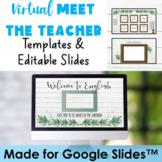 Meet the Teacher Back to School Open House Editable Google Slides Farmhouse