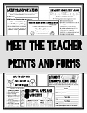 Meet the Teacher/ Back to School {Prints and Forms}
