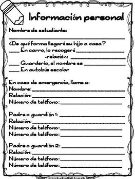 Meet the Teacher Bilingual Freebie