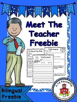 Meet the Teacher Bilingual Freebie