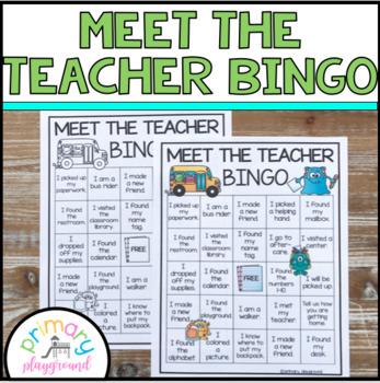 Meet the Teacher  Bingo ~ Editable
