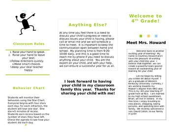 Meet the Teacher Brochure *EDITABLE*