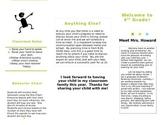 Meet the Teacher Brochure *EDITABLE*