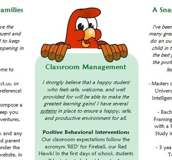 Meet the Teacher Brochure- Entirely Editable!