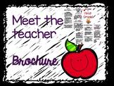 Meet the Teacher Brochure - Entirely Editable