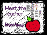 Meet the Teacher Brochure - Entirely Editable