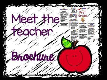 Meet the Teacher Brochure and Powerpoint Combo
