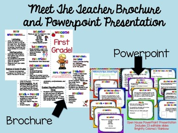 Meet the Teacher Brochure and Powerpoint Combo